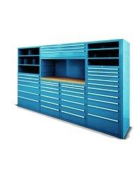 Scaffali industriali Fami Storage Systems per lo stoccaggio in cassetti con serratura, con portata fino a 150 kg.