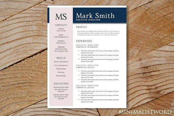 Elegant Resume Template by  d on @creativework247