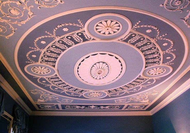 Baron Orde's House 8 Queen Street by Robert Adam 1770/71 first floor ceiling
