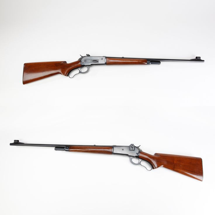Winchester M71 Rifle - Winchester introducing the Winchester's Model 71 lever-action rifle in 1935. Unlike the Winchester 1886 rifle, which it emulated closely, the M71 was chambered for only the .348 Win. cartridge.  The M71's ¾ length, four-shot tubular magazine was the same for the two barrel lengths offered – a 20-inch rifle and a 24-inch rifle.  The original Winchester production run continued until 1958 and a bit under 50,000 guns were made. NRA National Firearms Museum in Fairfax, VA.