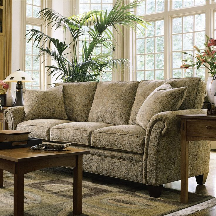 This Flared Roll Arm Sofa Is A Great Comfortable Transitional Sofa From  Stickley. Sofa: