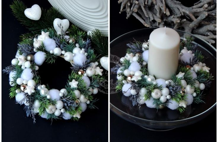 Xmas wreath with winter stars