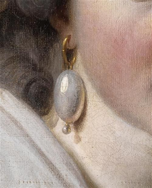 Detail from a portrait of Madame Nicaise Perrin by Charles Nicaise Perrin. 18th century. (C) RMN-Grand Palais / René-Gabriel Ojéda / Thierry Le Mage