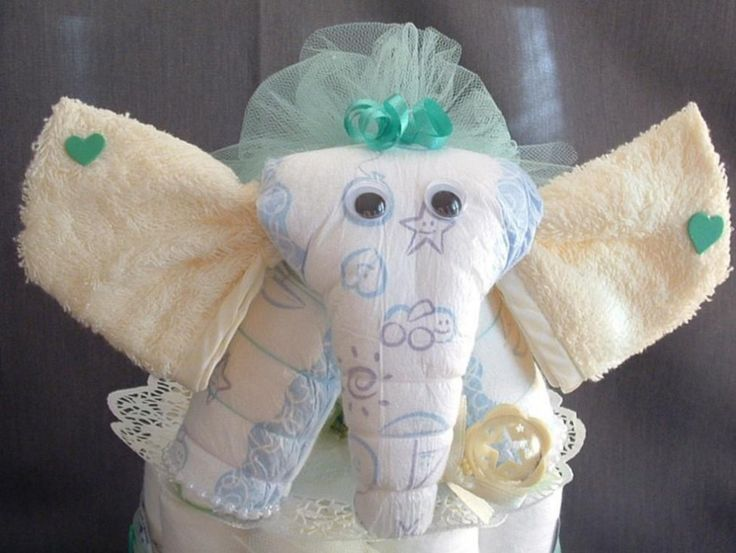 animal diaper cake instructions