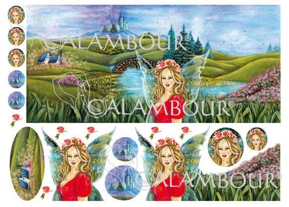 Illustrazione per carte decoupage e decorazione Calambour