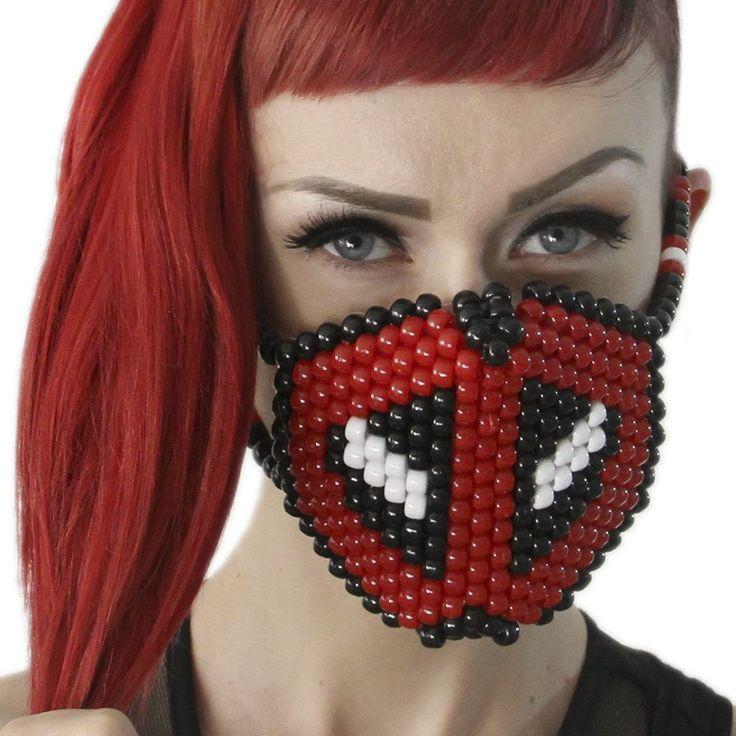 Deadpool Kandi Mask Surgical by Kandi Gear