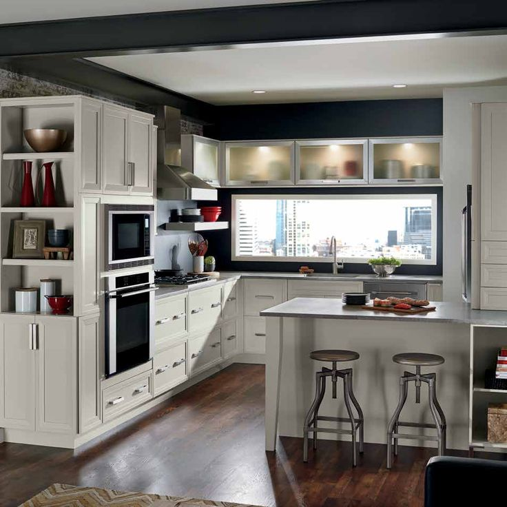 On Trend Gray Cabinets Make This Kitchen Craft Asher Finished In Maple Cirrus An