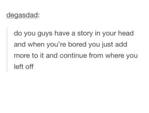 Glad I'm not the only one that does this
