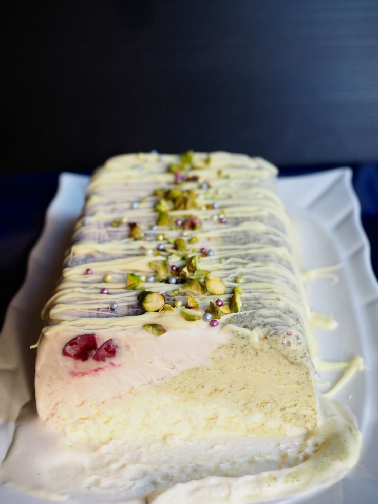 Christmas Ice Cream Terrine - Champagne and Chips