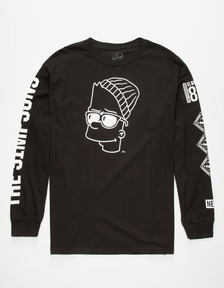 NEFF x The Simpsons Steezy Bart Mens T-Shirt 263211100   L/S & Baseball Tees