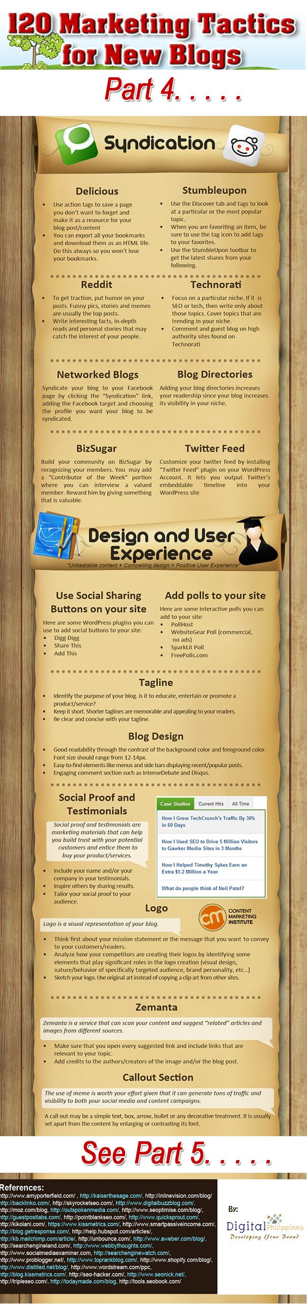 120 marketing tips for bloggers how to promote your blog #infographic www.socialmediabusinessacademy.com part 4
