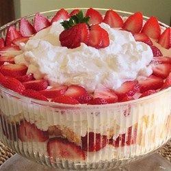 """Strawberry Shortcake Punch Bowl Cake 
