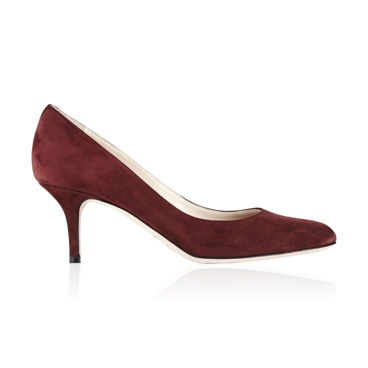 Jimmy Choo Irena Seude Pump Claret - Classically shaped round toe pump that is simple yet stylish, the perfect shoe for long days.