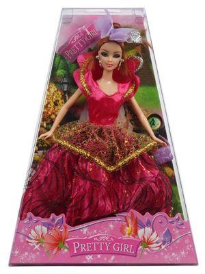 Księżniczka to przepiękna lalka dla każdej małej dziewczynki, która marzy o byciu księżniczką. Lalka ubrana w zjawiskową suknię wieczorową z piękną kokardą na głowie, zachwyca swoim niepowtarzalnym wyglądem. Od teraz marzenie o byciu księżniczką stanie się rzeczywistością w czasie zabawy z lalką Księżniczką.