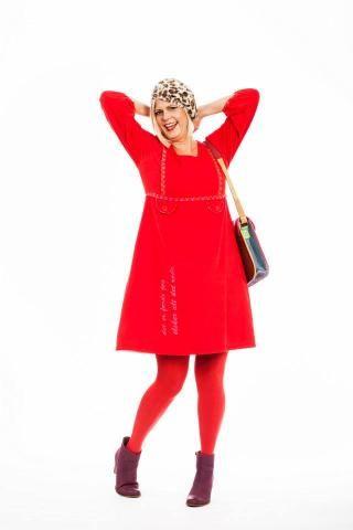 Se min kjole rød cord