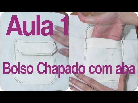 Bolso chapado com aba - Aula 1 de BOLSOS  Alana Santos Blogger