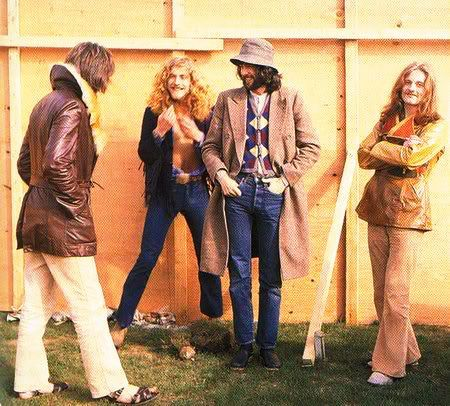 Led Zeppelin, Backstage at The Bath Festival, 1970