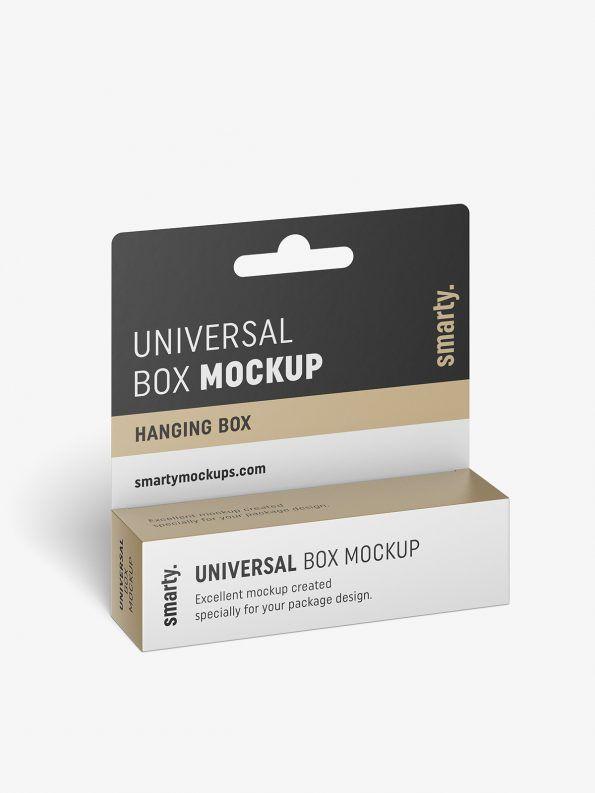 Download Hanging Box Mockup 110x30x30 Smarty Mockups Box Mockup Box Packaging Design