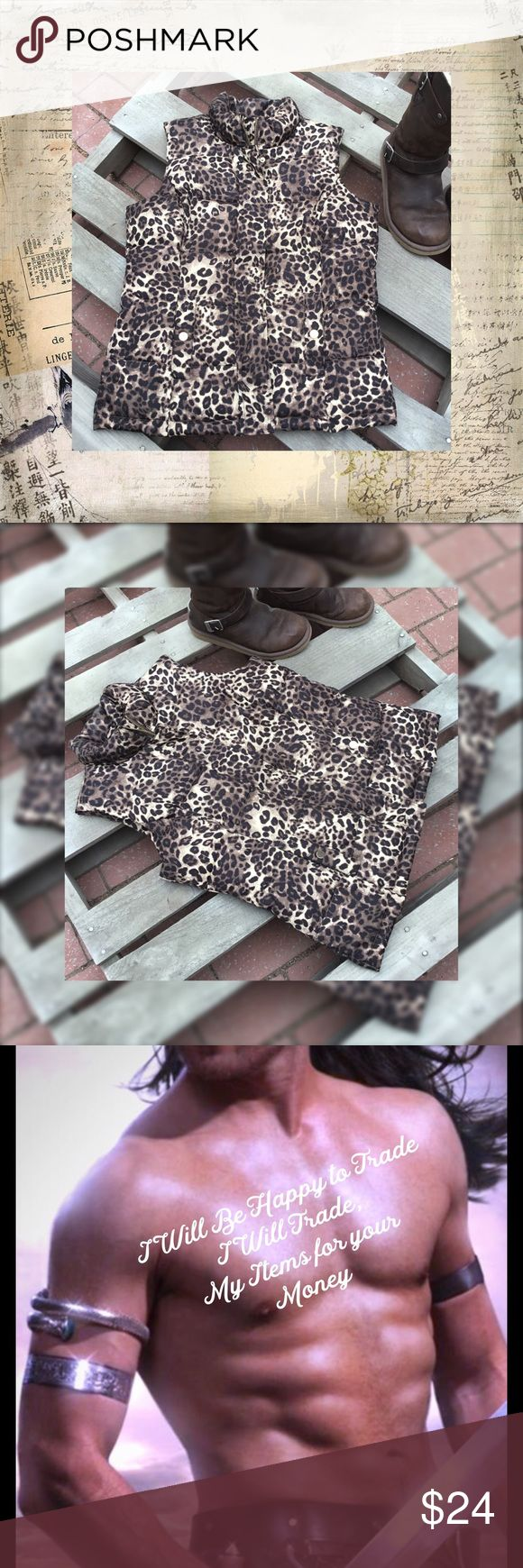 Time to Layer up Leopard Print Vest Charter Club Jackets & Coats Vests