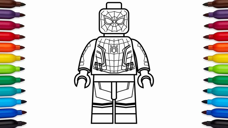 28 Lego Spiderman Coloring Page in 2020 | Spiderman ...