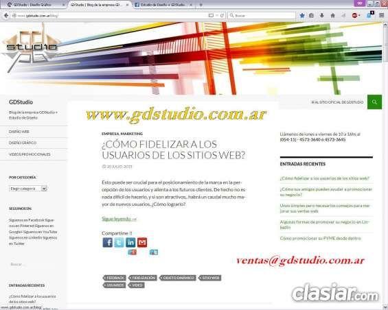 ºº Diseño Web Profesional º Diseño Responsive º GDStudio ºº http://villa-urquiza.clasiar.com/oo-diseno-web-profesional-o-diseno-responsive-o-gdstudio-oo-id-251870