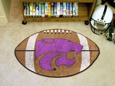 "Kansas State Football Rug 20.5""x32.5"""