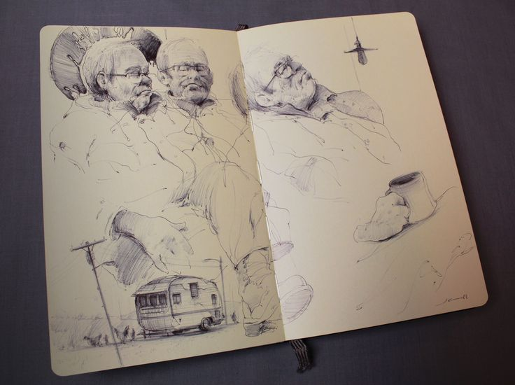 Everyone has a story. #drawing #sketch #ballpointpen #moleskine