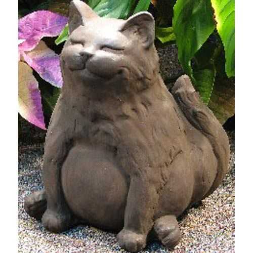 Happy Fat Cat Garden Statuary Nichols Bros Stoneworks Outdoor Statuary Outdoor Living Outd