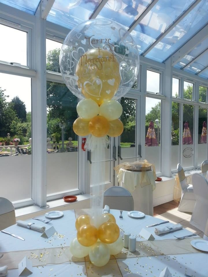 Best balloon table center piece images on pinterest