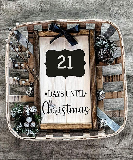 Days Until Christmas\u0027 Chalkboard Wall Sign christmas Christmas