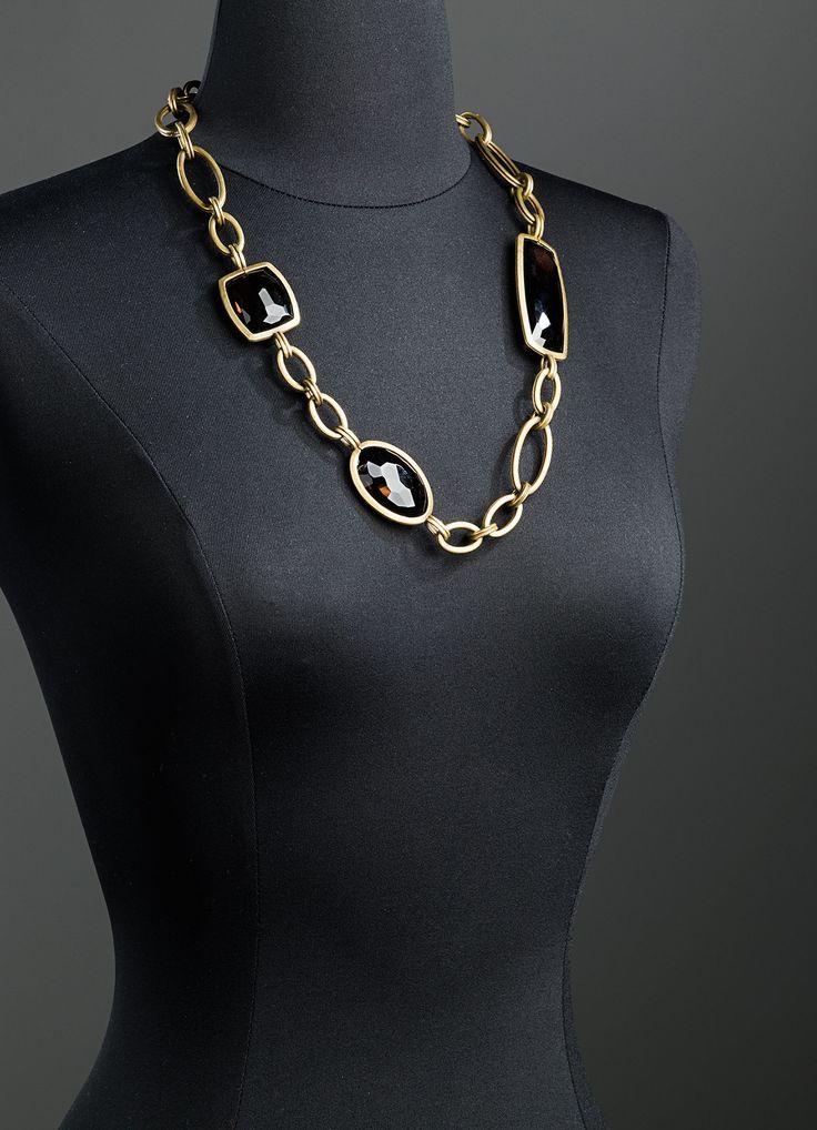 Smokey Topaz Chain Link Necklace
