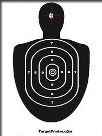 Printable Human Silhouette Shooting Range Target ( find nerf gun? dip in red paint?)