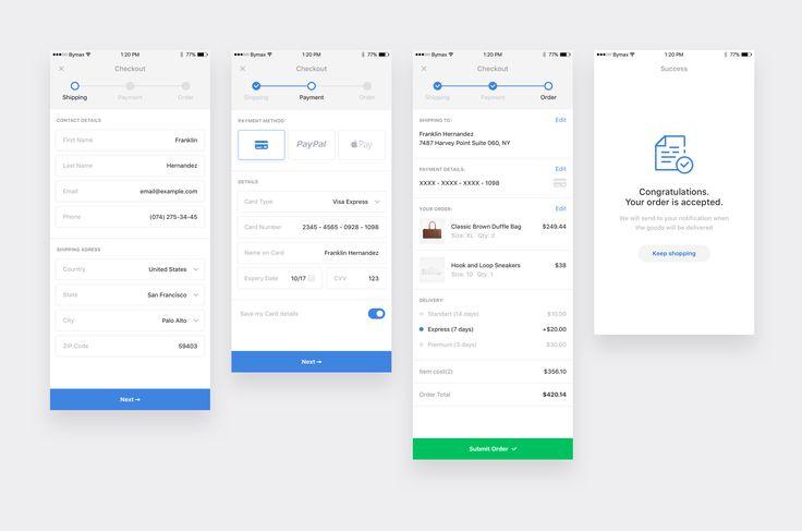 Checkout form by Artyom Khamitov⚡