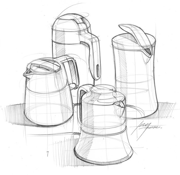 Kettle sketch #id #design #product #sketch