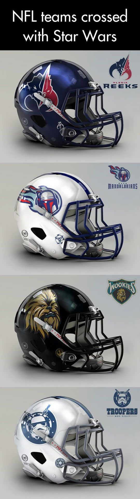 NFL meets Star Wars… but I seriously question the choice of Jedis and Rebels