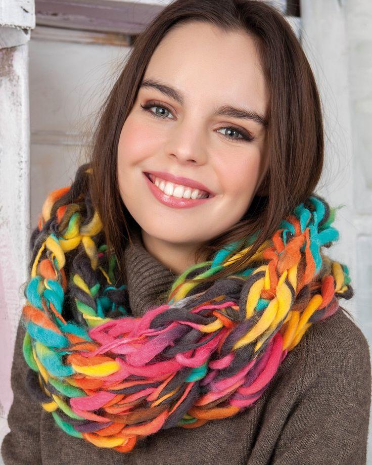 Rainbow Cowl C0-401 | Knitting Fever Yarns & Euro Yarns