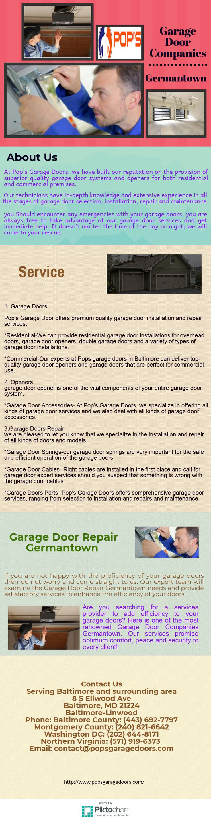 Are you searching for a services provider to add efficiency to your garage doors? Here is one of the most renowned Garage Door Companies Germantown. Our services promise optimum comfort, peace and security to every client!