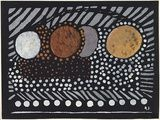 Artist: PRESTON, Margaret | Title: Aboriginal art. | Date: 1949 | Technique: stencil print, printed in colour, from one hand-cut paper stencil | Copyright: © Margaret Preston. Licensed by VISCOPY, Australia