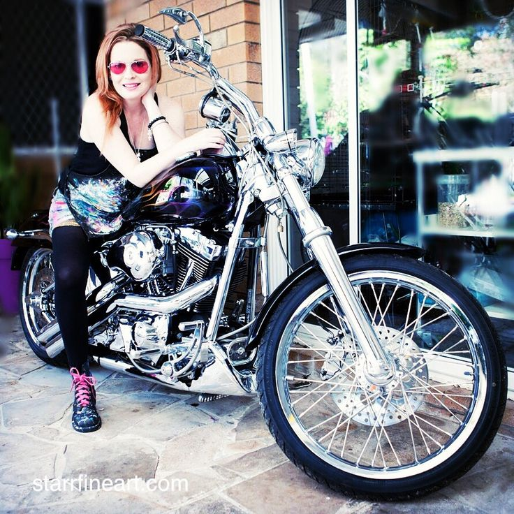 My beautiful Harley that will be in a a new series . www.starrfineart.com