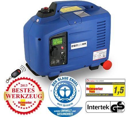 Denqbar Inverter Stromerzeuger mit 2,8 kW E-Start und Funk: Bestes Werkzeug mit allen Komfort-Features.