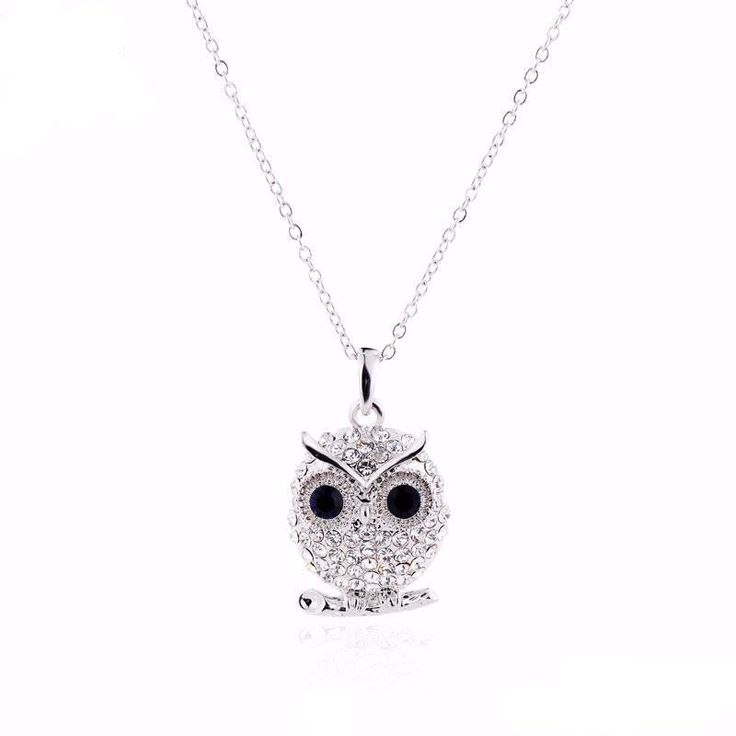 Crystal Owl Necklace Limited Availability & Free Shipping Included Beautiful Crystal Owl Necklace and Pendant Size: Chain Length - 18 inches (+2inches) Pe