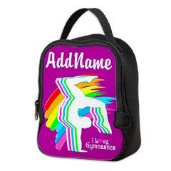 Darling Gymnast Neoprene Lunch Bag Awesome personalized Gymnastics designs available on Tees, Apparel and Gifts. http://www.cafepress.com/sportsstar/10114301 #Gymnastics #Gymnast #WomensGymnastics #Gymnastgift #Lovegymnastics #PersonalizedGymnast