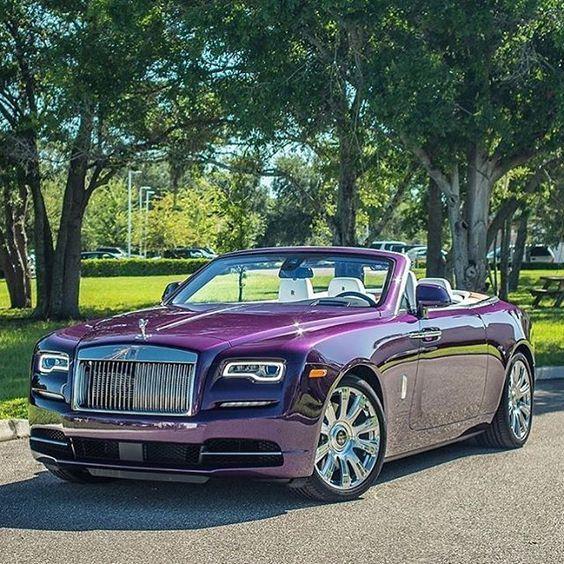 Purple Rolls Royce car car pictures luxury car auto vehicles