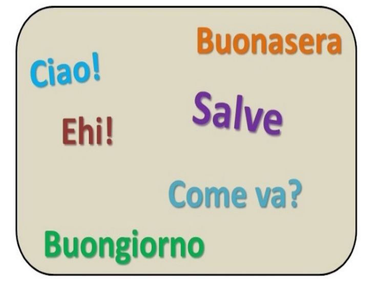 Ciao! In Italy, We Greet Each Other In Many Different Ways. These Greetings