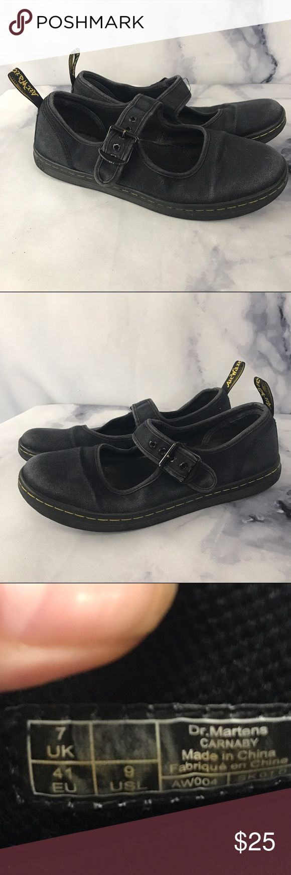 Dr. Martens Carnaby Canvas Maryjane 9 Used condition. Perfect grunge piece! True 9s. 🖤THANK YOU for supporting the dream of business ownership of 2 BFFs! 🖤DON'T PASS THIS UP! Make us an offer! 🖤We ship daily M-Sat, so youll get it on time! 🖤no price discussion in comments please🖤 use offer button 🖤reasonable offers accepted 🖤low offers countered🖤offers below 50% of asking price are auto declined🖤 Dr. Martens Shoes Flats & Loafers