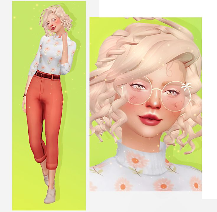 🔮 — SIM REQUEST #10 Aria Sally faded-plumbobs Her skin…