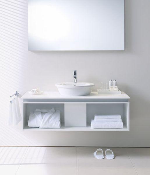 Baño pequeño   Mueble bajo lavabo suspendido
