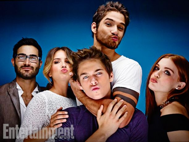 EW SDCC Portraits 2014 // Tyler Hoechlin, Shelley Hennig, Dylan Sprayberry, Tyler Posey, and Holland Roden (Teen Wolf)