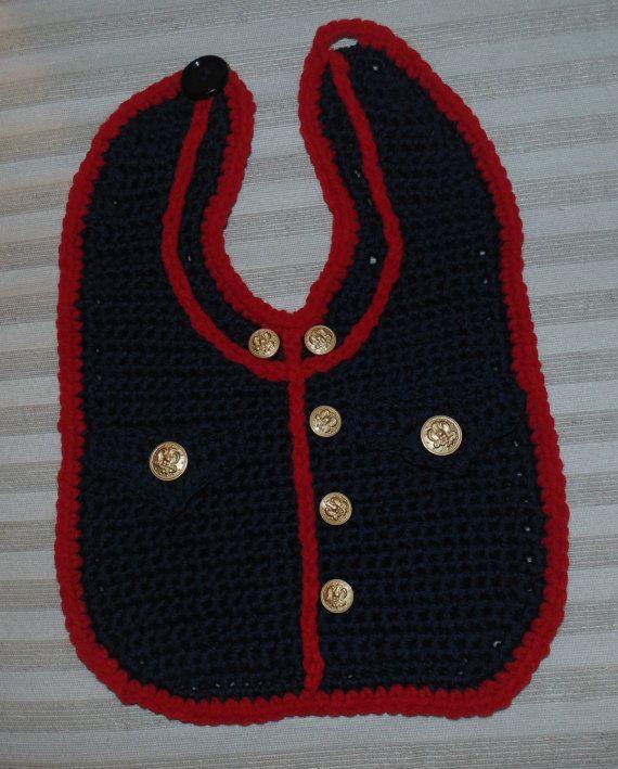 Marine Bib Booties and Cap Crochet Patterns PDF INSTANT