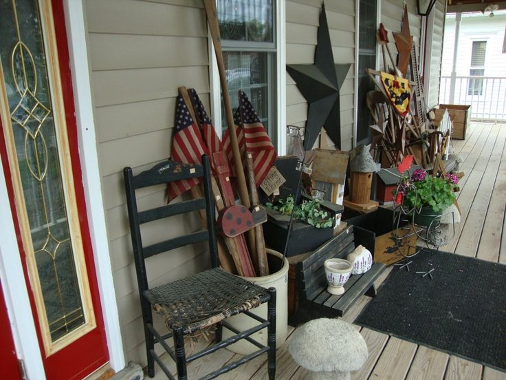 73 best primitive porch decor images on pinterest | country